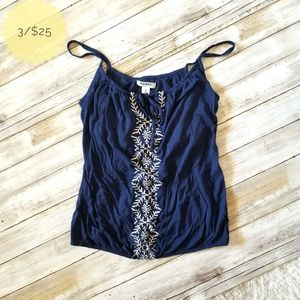 Old Navy Embroidered Tank Top Navy